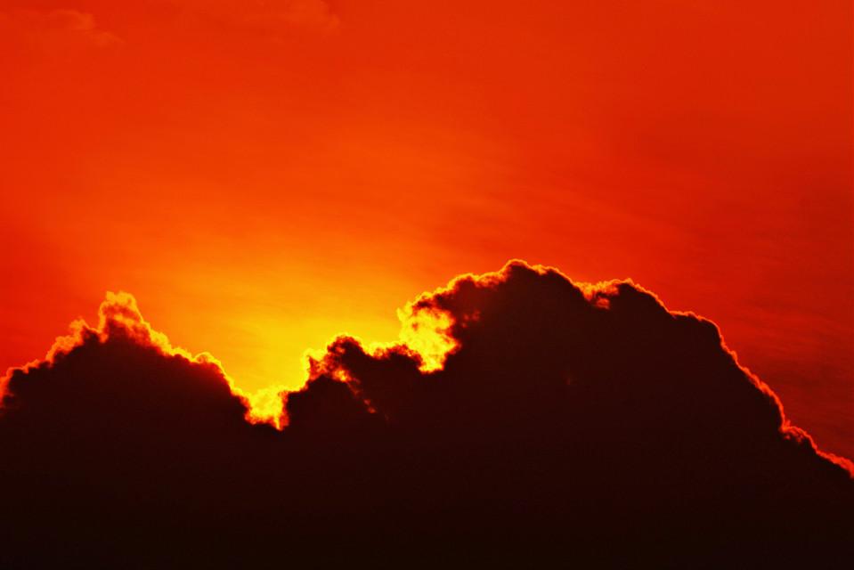 多摩雲 !!  #sunsetsilhouette
