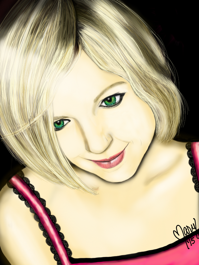 Self Portrait.  I drew this on Sketchbook.  #art #digitaldrawing #woman #portrait #drawing