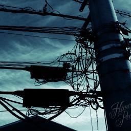写真撮ってる人と繋がりたい 電柱 電線 mobilephotograph mobilephotography