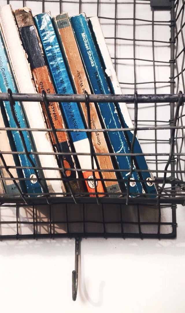 #blue #books #cage #industrial #cage #interesting #art #colours #contrast