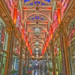 interesting london shopping arcade