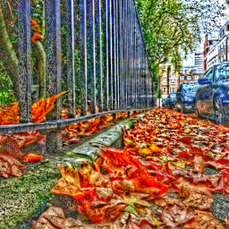 london autumn leaves pathway