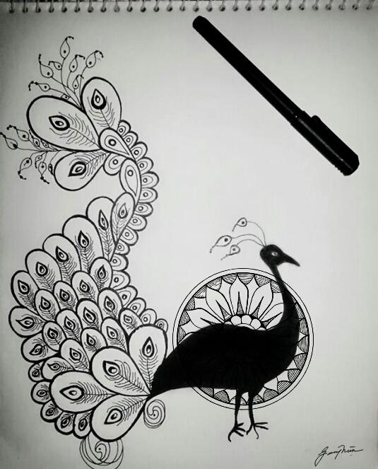 #drawing #art #peacock #design #zentangle