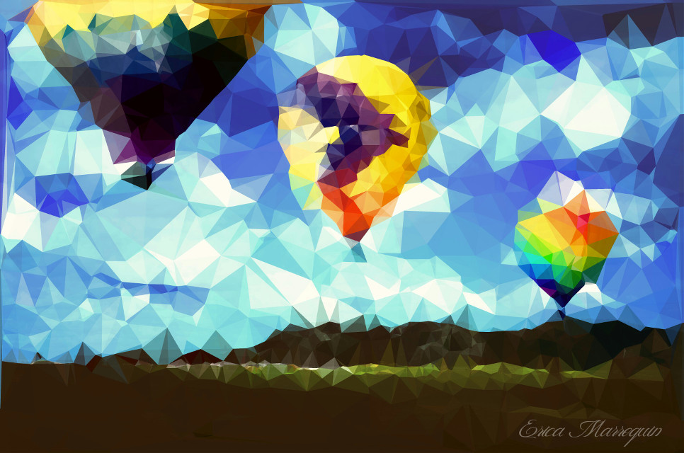 You can only fly as high as your imagination is willing to take you.    #PolygonEffect #curves #clipart #colorful #geometric #balloon #landscape
