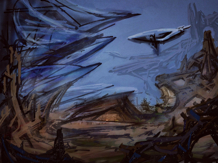 My first sci-fi sketch on here.