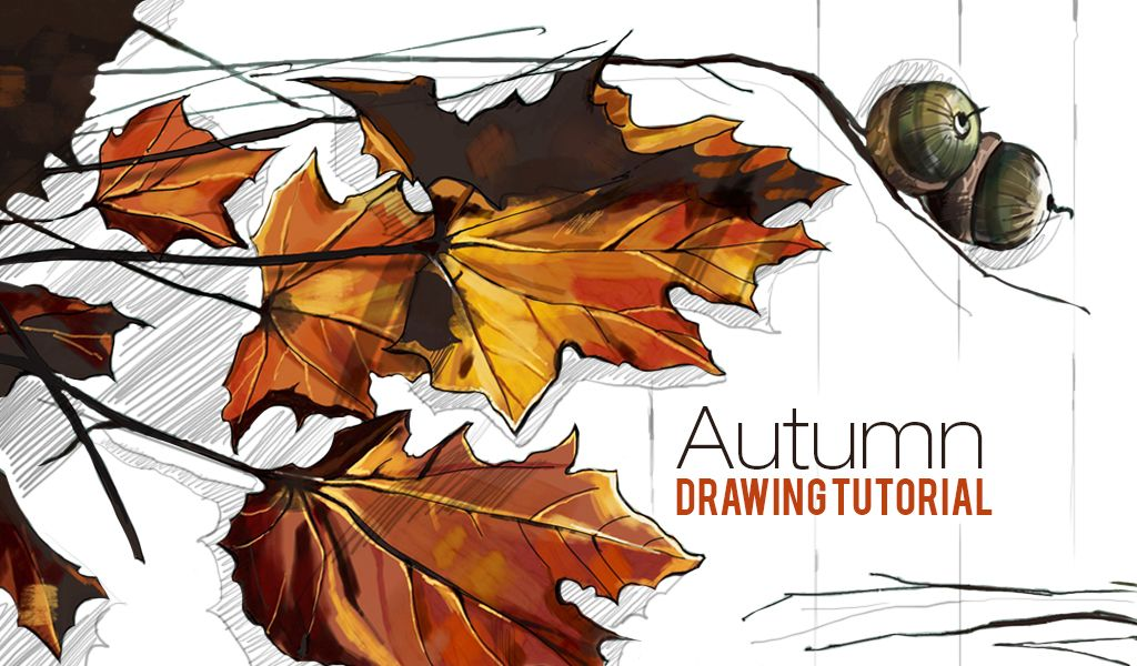 autumn drawing tutorial