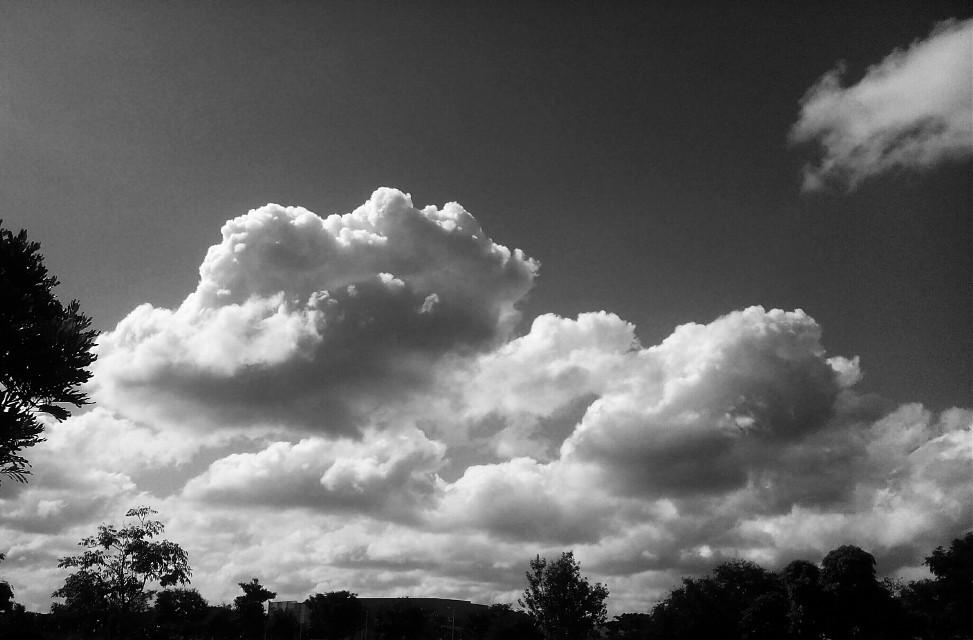 #blackandwhite #clouds #sky #nature #cliffs #seasons