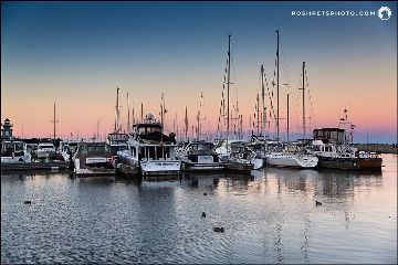 marina boat sunset