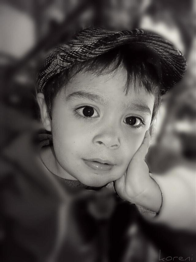 #oldstyle #portrait #kid #child #baby #eyes #goodilumination #ilumination #blackandwhite #photography