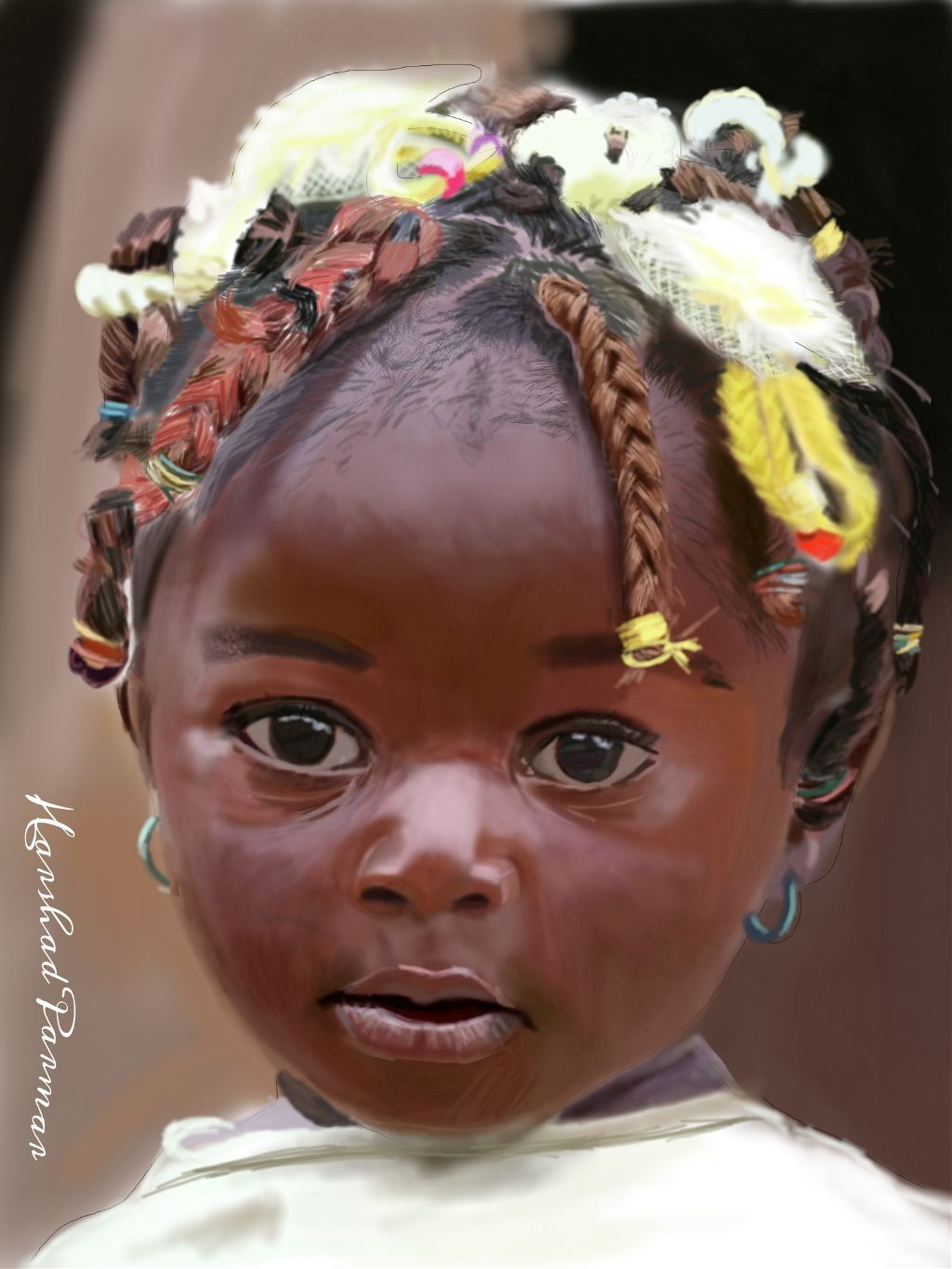 #wdpportrait #sweet little African girl# amazing Hair style# cute# innocent. Hope u all like it my friends. Thanx in advance for ur likes, votes, & repost if any.