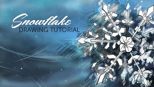 step by step snowflake drawing