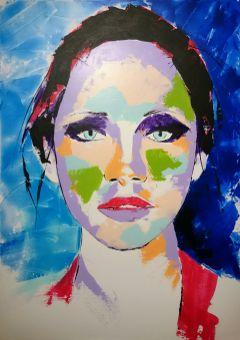 art portrait colorful colors painting