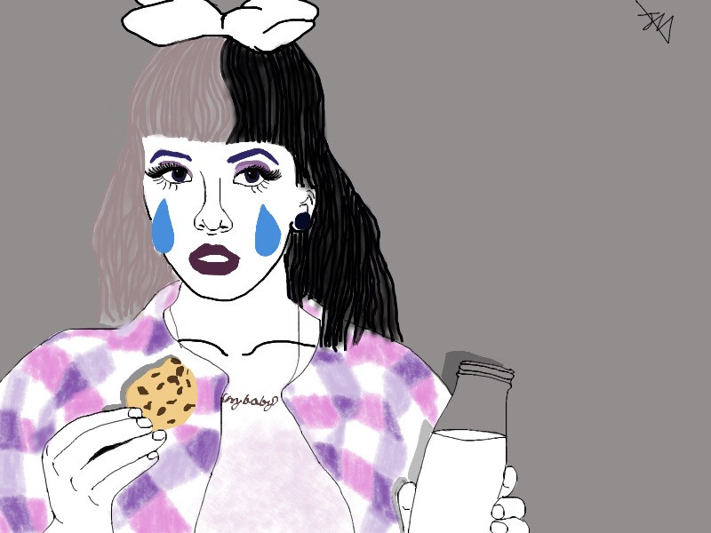 Milk and Cookies.       #melaniemartinez #melaniemartinezfanart #interesting #art #girl #music #FreeToEdit