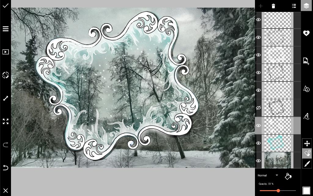 draw flecks of snow