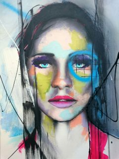 art painting portrait abstract beauty