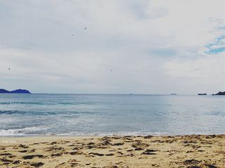 flat horizon beach shore memories