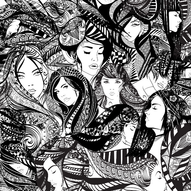 The Zentangle 2.0  Because putting a '2.0' makes it sound cooler. Oh yeah, and a quote for this, because I'm such an artsy person; 'She had many faces, each of whom was breathtaking.' #art #art