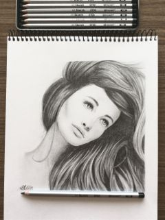 drawing pencil blackandwhite woman pencilart