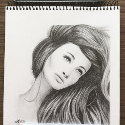 drawing pencil blackandwhite woman pencilart