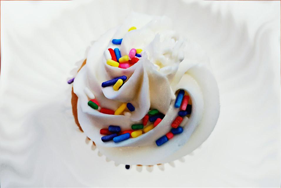 My birthday cupcake. #birthday #cupcake #food #sweet #white #vibrant #photography #love #colorful