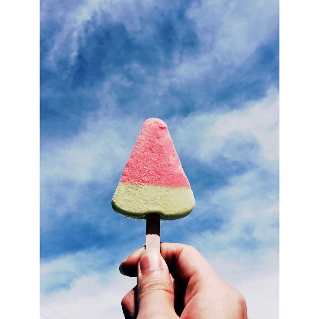 T a n g m o 2 🍉            ________________________________________________  #colorcontrast #colorful #icecream #Tangmo #watermelon #cool  @tatsumaruart