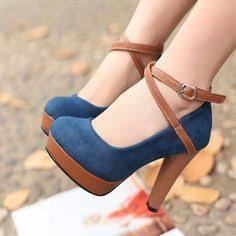 branded travel love heels blue