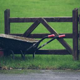 wheelbarrow fence dodger photography