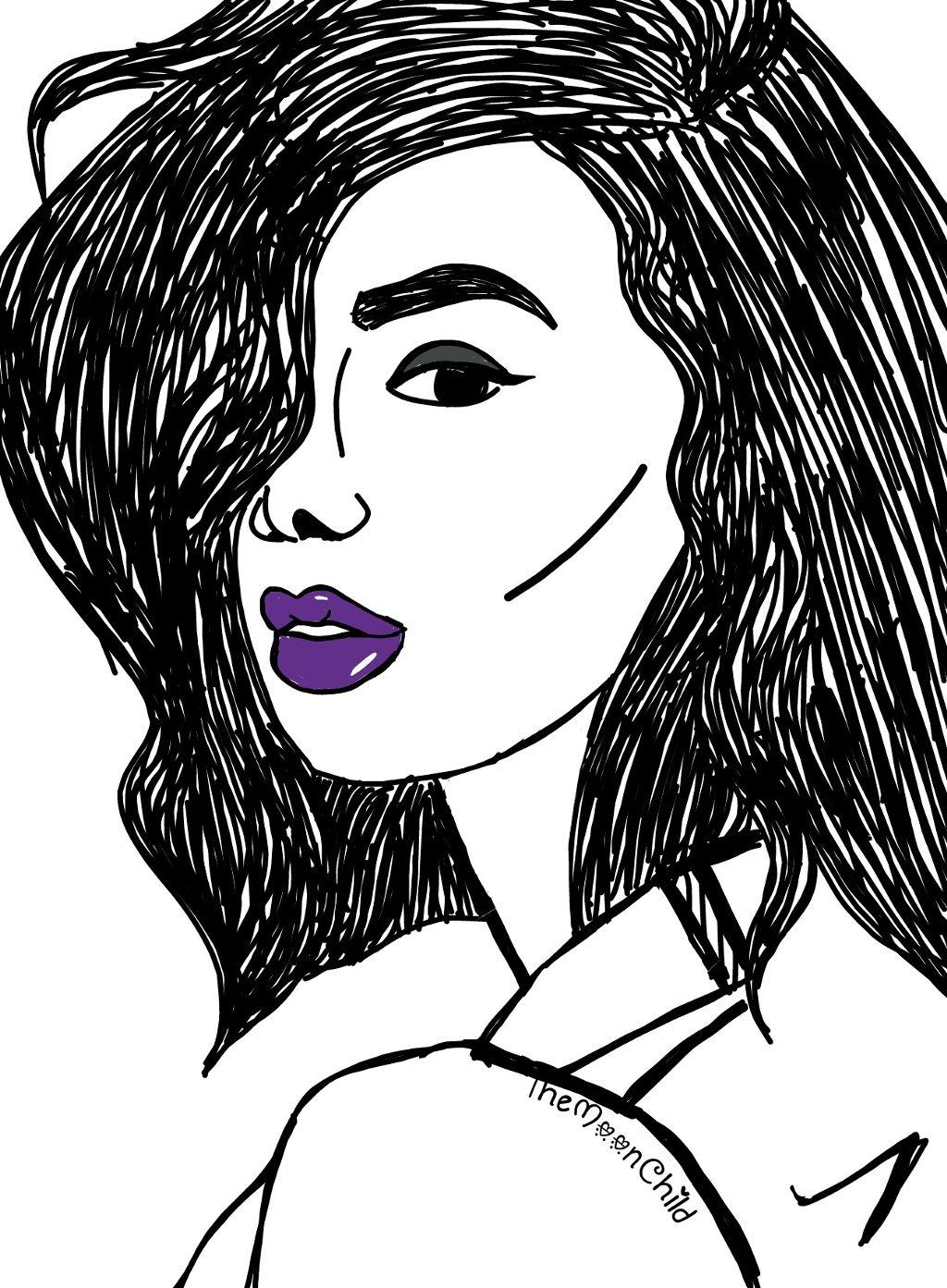 Draw Art Friends Girl Tumblr Cute Lips Blackandwhite