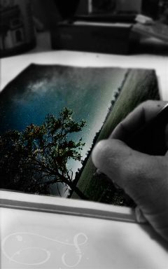 ftestarrynight keepitsimple drawing hand illustration