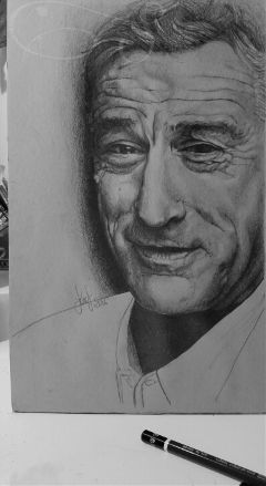 drawing pencil portrait robertdeniro blackandwhite