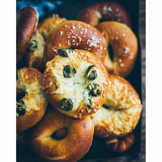 And some more bagels. With jalapenos and asiago cheese #bagels #homemade