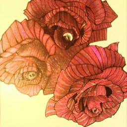 #handdrawn #art #outsiderart flower #flower