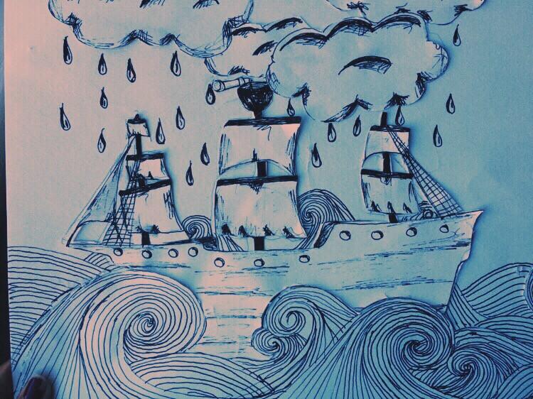 #art #drawing #sea sailing in a sea of sadness😘❤️