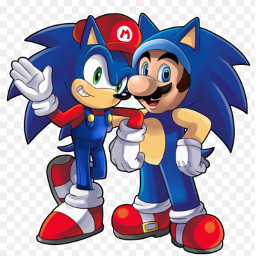 sonicthehedgehog mario bestfriend awesome cool