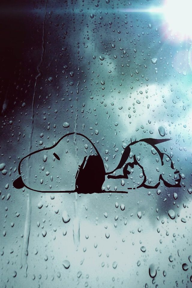 snoopy rain wallpaper image by sam