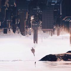 city cityscape surrealisticgate upsidedown minimal