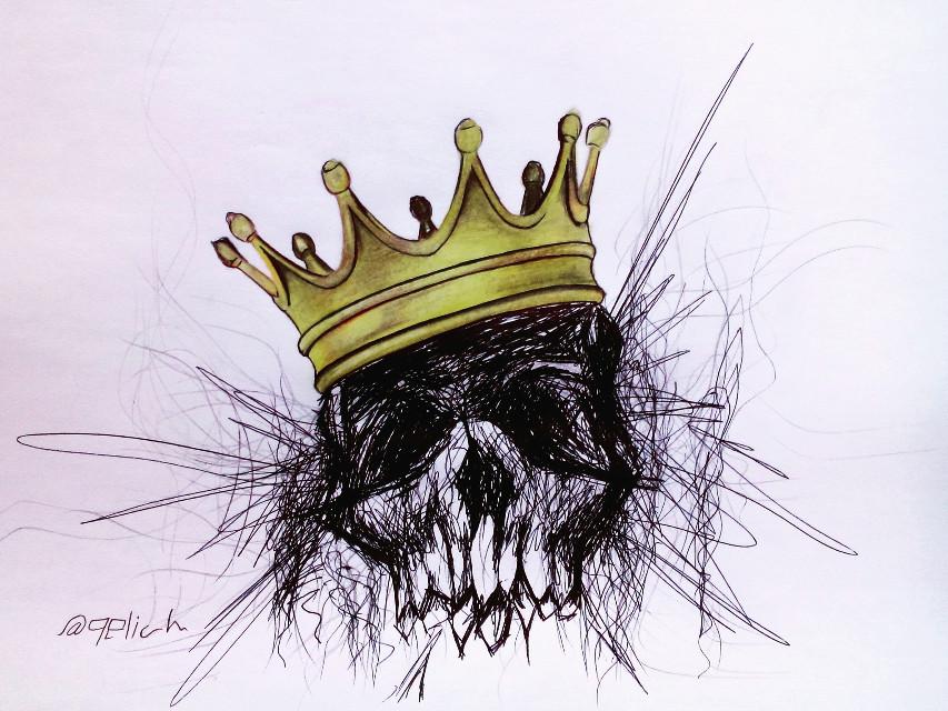#art #draw  #tattoos #skull #picsart