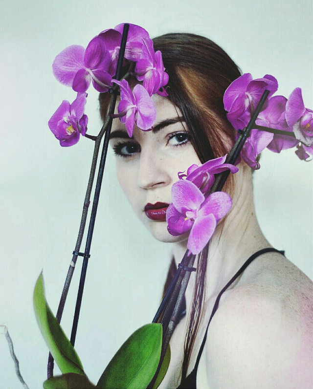 """Purple"" Selfportrait   #portrait #people #photography #purple #model #art #selfportrait #fantasy #flowers"