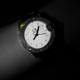 clock blackandwhite wristwatch ck monochrome