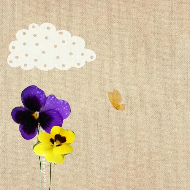 #Flowerdoodles #flower #pansies