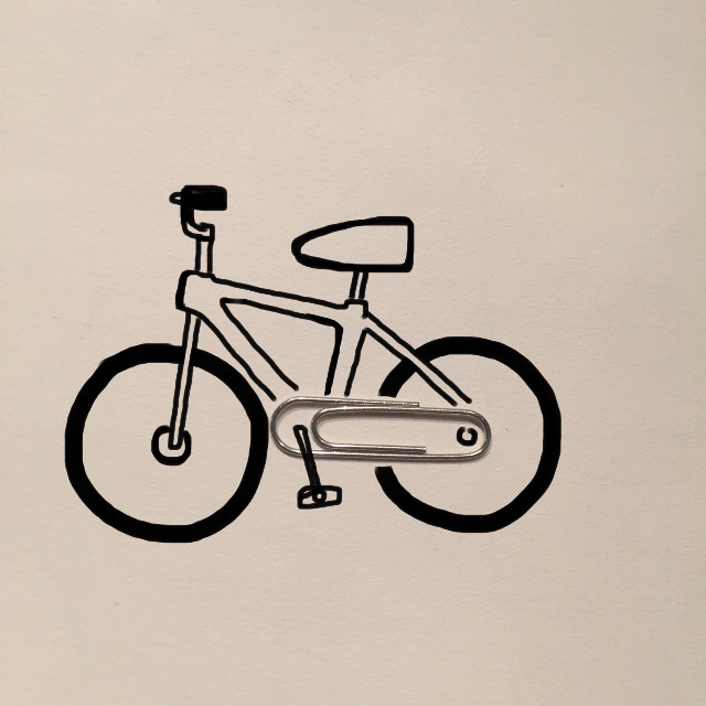 A clip bicycle… #art #creative #imagination #draw #clip #bicycle