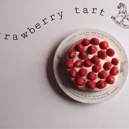 strawberry tart sweet cute