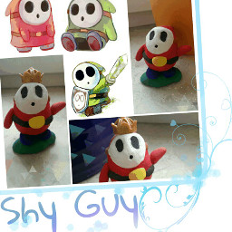 shyguy supermario nintendo collage figure