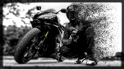 dispersion edited blackandwhite colorsplash motorbike