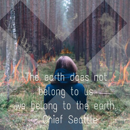 fteearthday earthday2016 trees fire quote freetoedit
