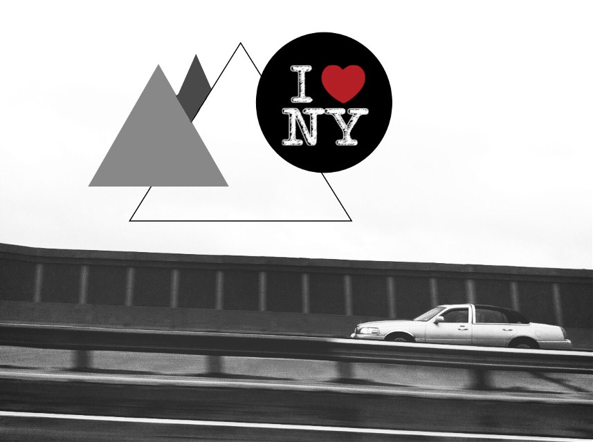 Had a fun trip to New York this weekend  #interesting #art #weekend #newyork #trip #vacation #grey #car #shapes #triangles #circle #retro