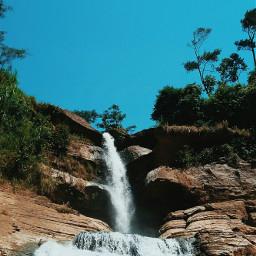 freetoedit nature waterfall scenery beautiful