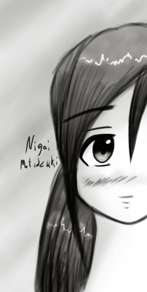 So sad, boring... It is raining... 🌁☔😐 #blackandwhite  #art #sketch #girl #drawning #gray #anime #manga