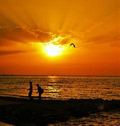 sunset sunside sunsetcolors orange silhouette